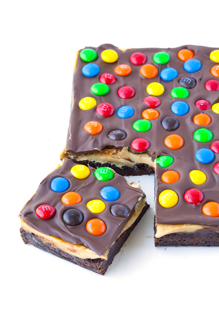 M&M Chocolate Peanut Butter Bars