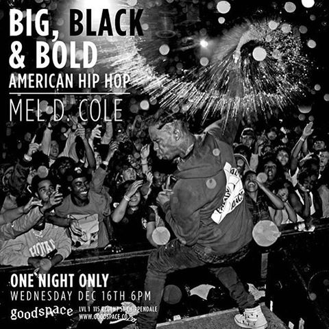 BIG, BLACK AND BOLD - an exhibition of American Hip Hop Photography by Mel D. Cole from New York City, one night only tomorrow night from 6PM. How's that photo of @travisscott tho? @meldcole