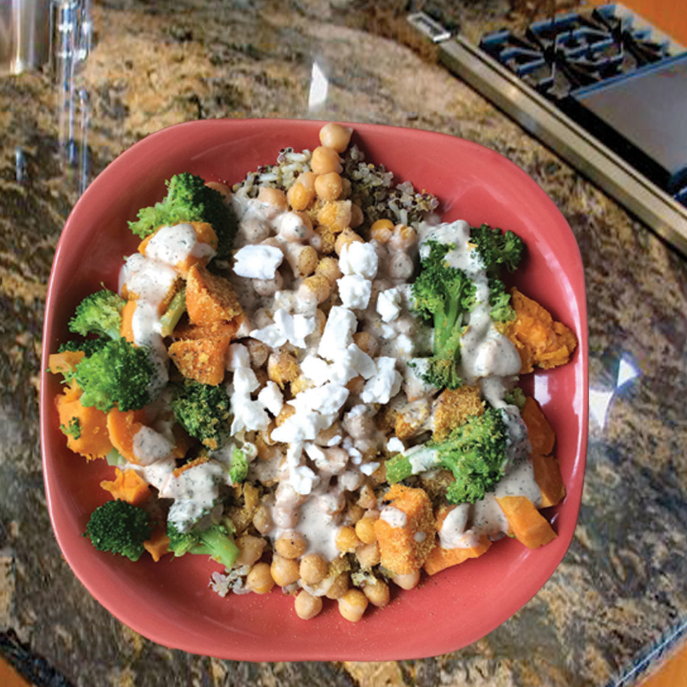 Summer Veggie & Chickpea Bowl