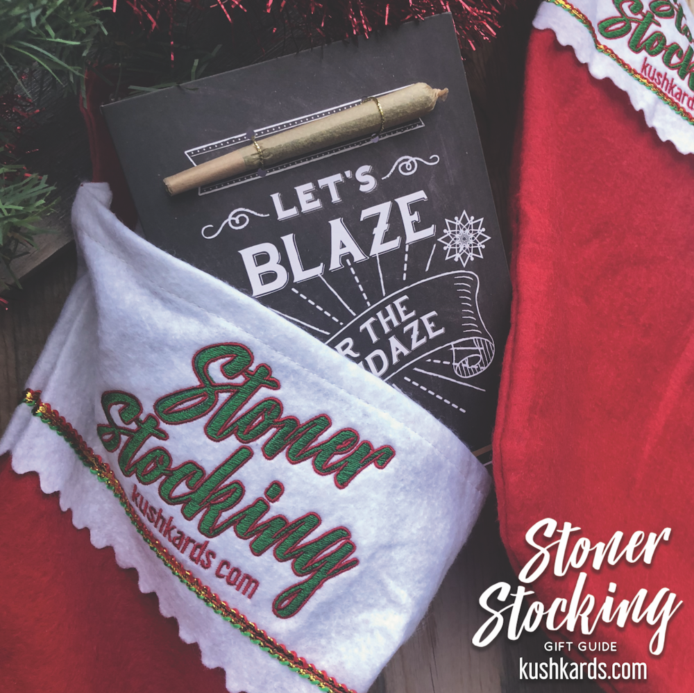 Stoner Stocking - The Stoner Stocking is stuffed with fun convenient products to gift your best bud everything MINUS the weed! Here are some of your favorite ancillary brands with products you can't smoke without in one package.Custom Stoner Stocking FREE with Purchase!RETAIL VALUE $100 | SALE PRICE $49.99