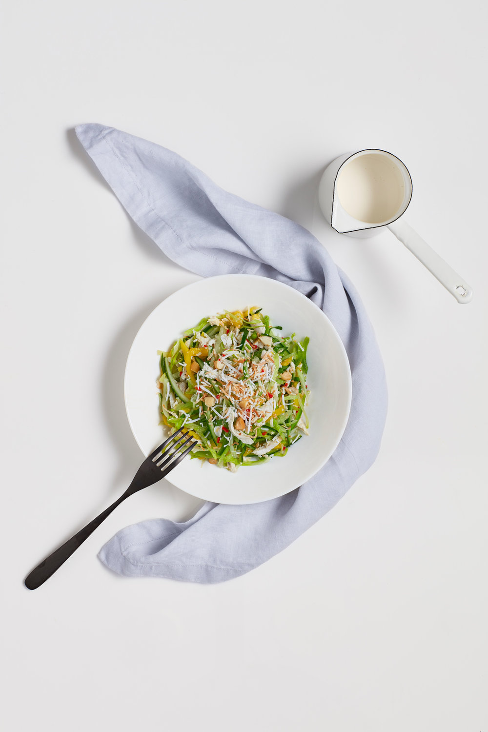 SHREDDED CHICKEN + MANGO SALAD [ART DIRECTION + STYLING] PHOTOGRAPHY BY NIC GOSSAGE