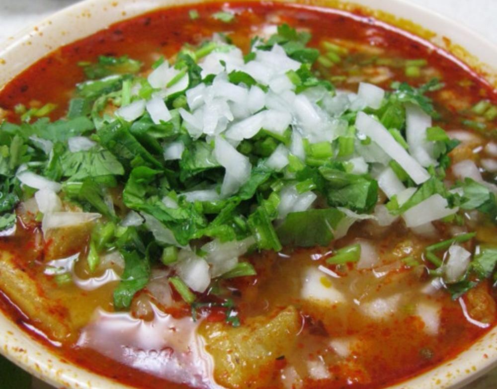 Menudo - a delicious, traditional soup from Puebla, Mexico