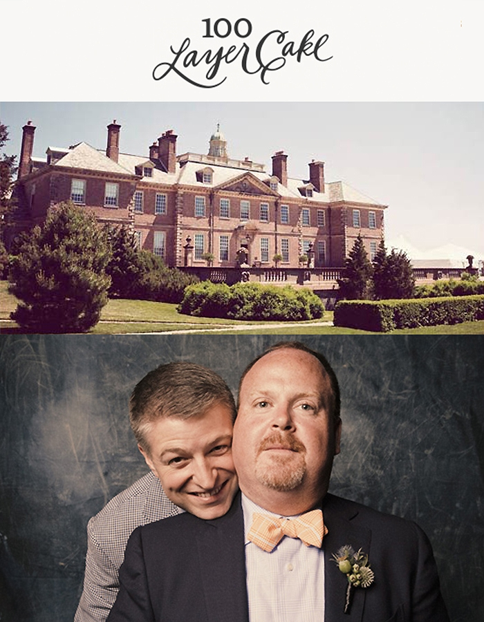 Crane Estate Wedding: Adam + Dave, 100 LAYER CAKE