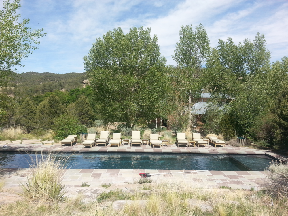 Pool after swimming pool repairs in Santa Fe, NM