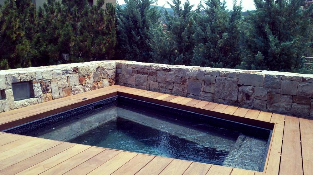 Mountain hot tub.
