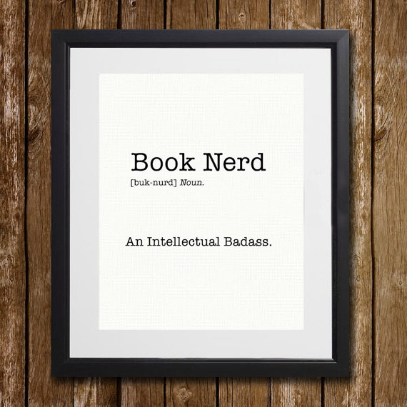 book nerd print reading area