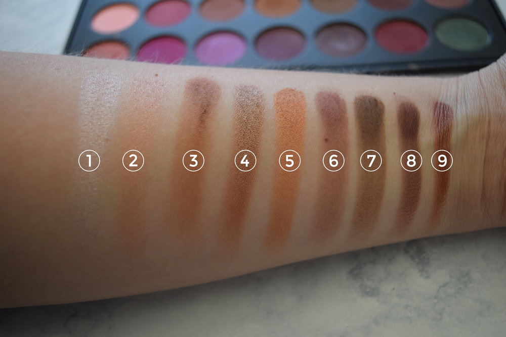 Jaclyn Hill Morphe Palette Review Swatch