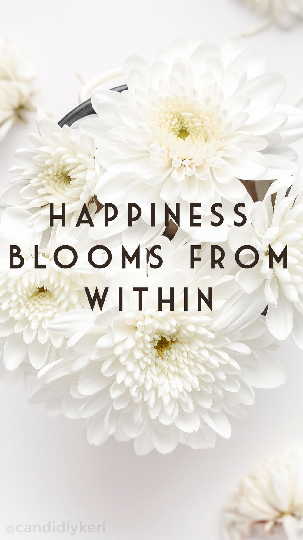 Happiness blooms from within