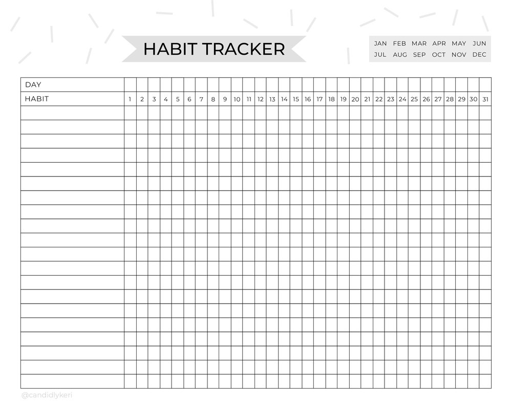 Habit Tracker Daily Planner Detailed free printable daily notes to do list
