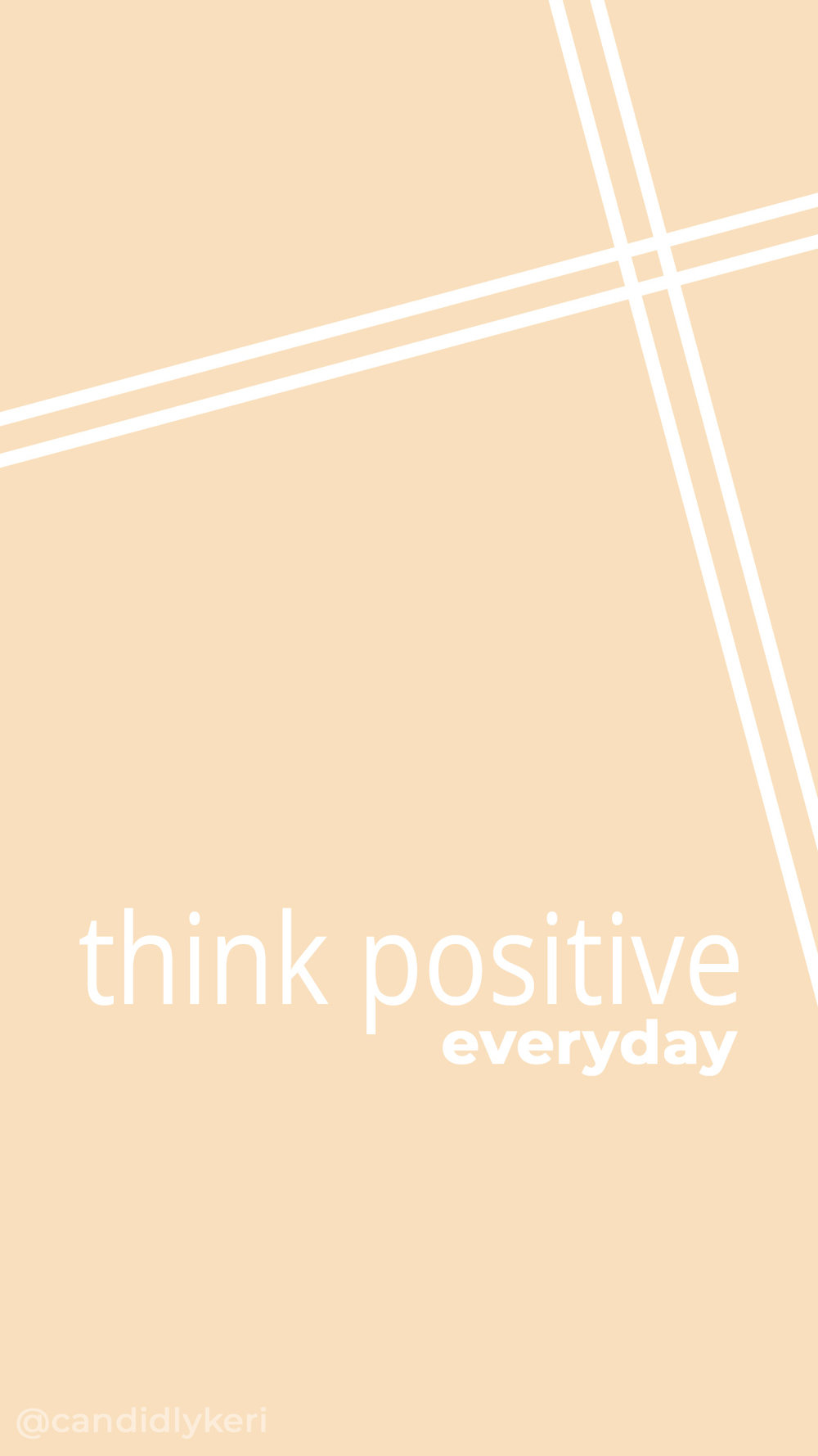 think positive everyday