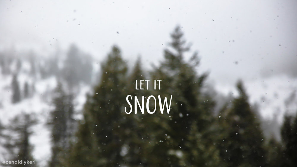 Christmas Holiday Wallpaper Let it Snow