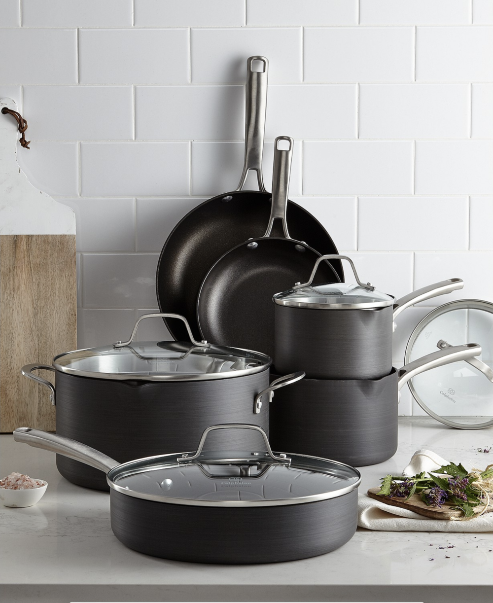 Cooking pots and pans recommended off my wedding registry