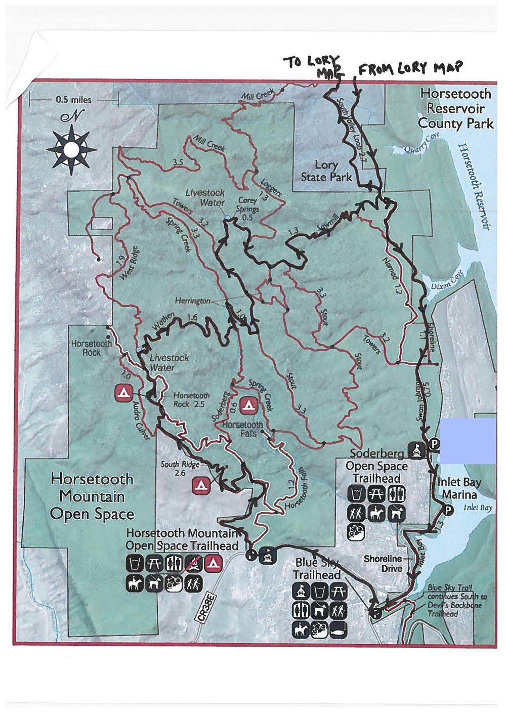 Copy of Map 2 - Horsetooth Mountain Park (the south bit)