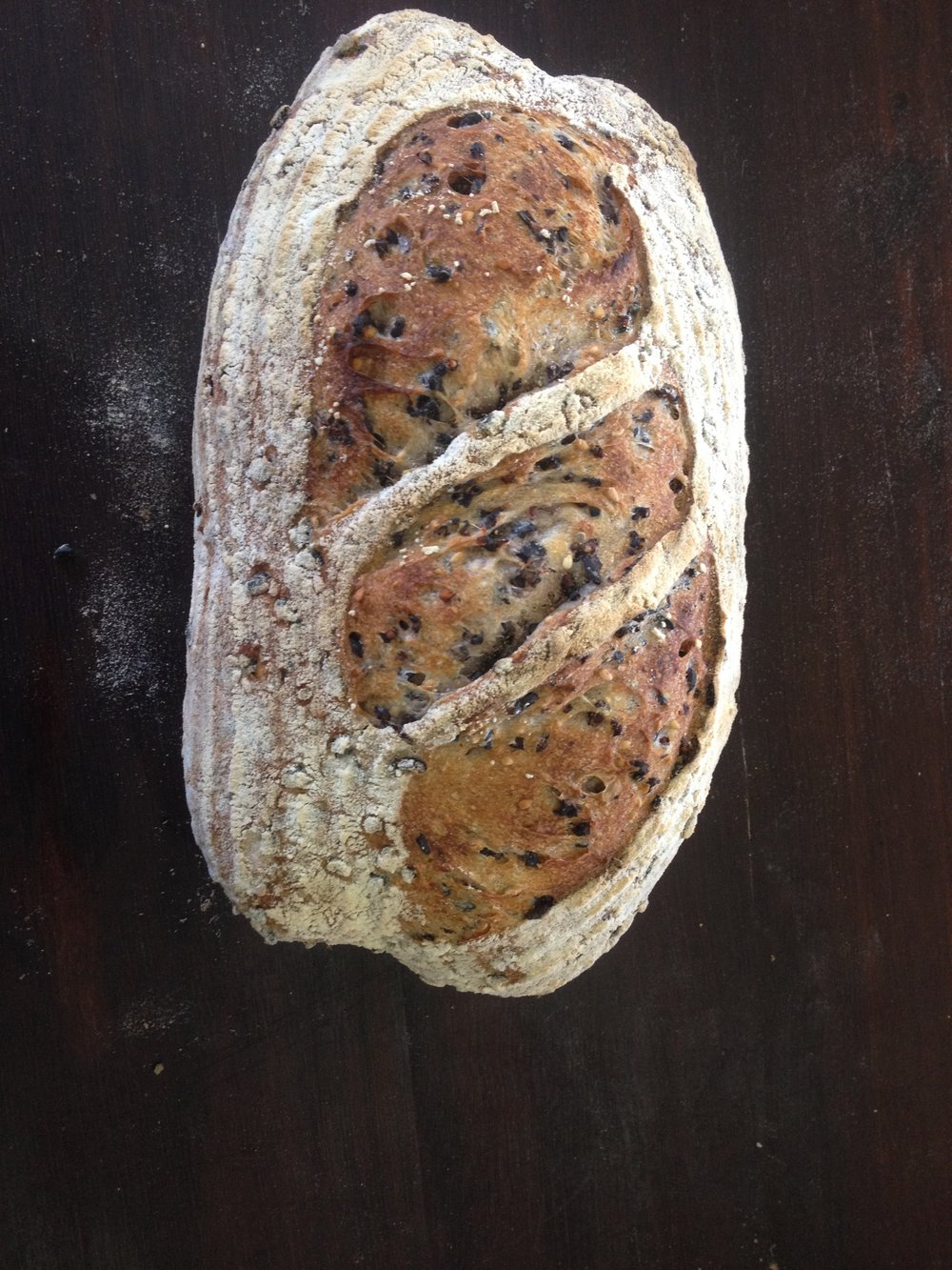 Organic Black Rice & Unhulled Sesame Seed Sourdough