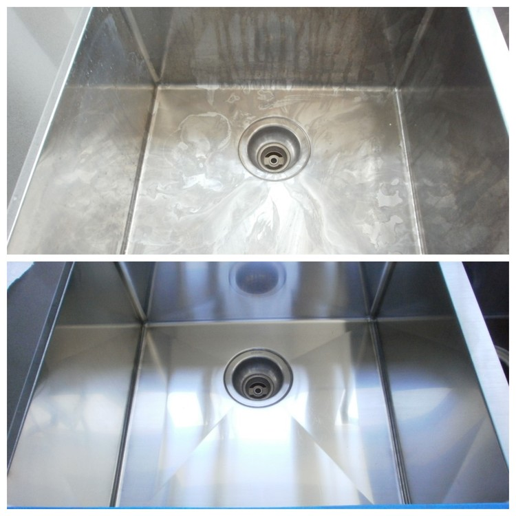 Stainless Steel Sink Before & After Restoration