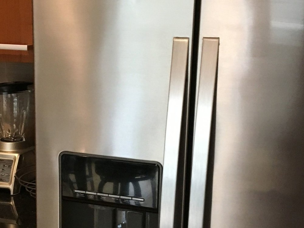 Stainless Steel Refrigerator After Restoration