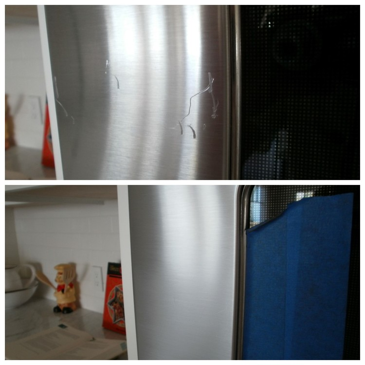 Deep Scratch Removal On Stainless Steel Before & After Restoration