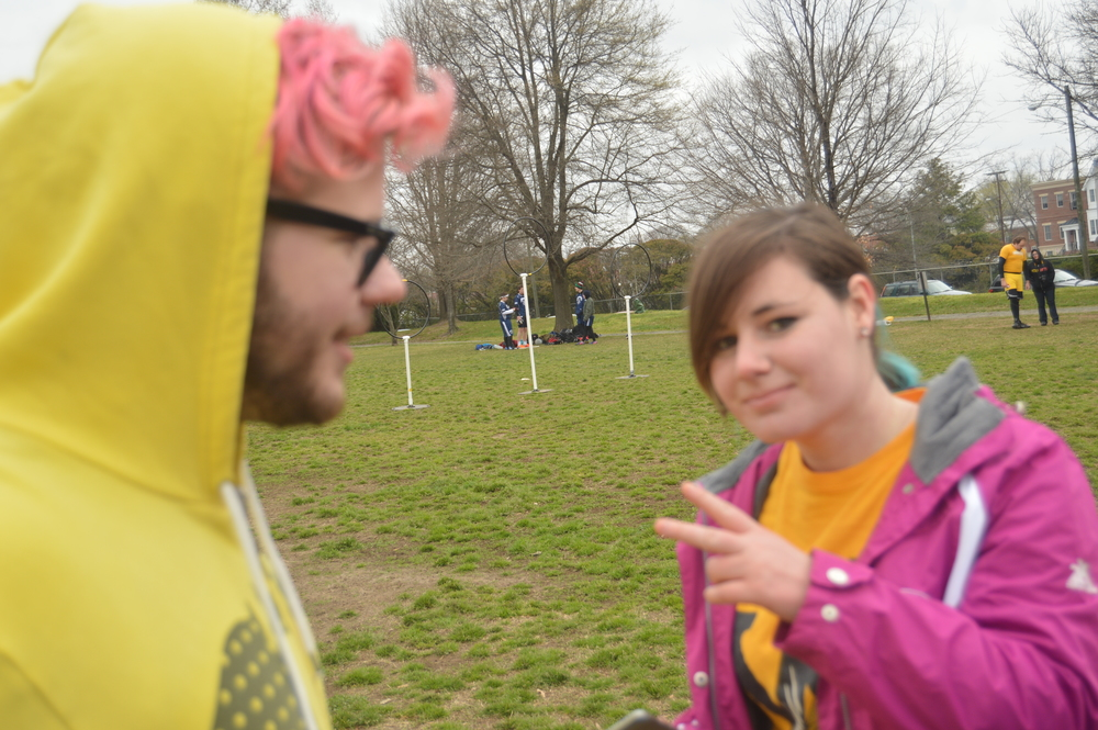 After the show, on Saturday ( which was beautiful) I hung out with my friends Emily and Tommy they took me to a VCU Quidditch game which was so rad. PS check out Tommy's band The Weak Days they rule soo hard and are bringing back all of the neon!
