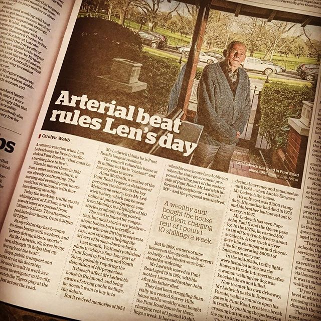The Age interview of Len Ledwich - 6 September 2015