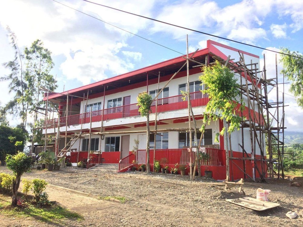 Construction progress update as of December 2016 for the classrooms and community center in Canlaon.