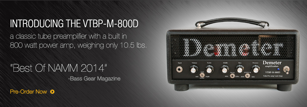 Here is One Product From Demeter Amplification. Look For more soon!