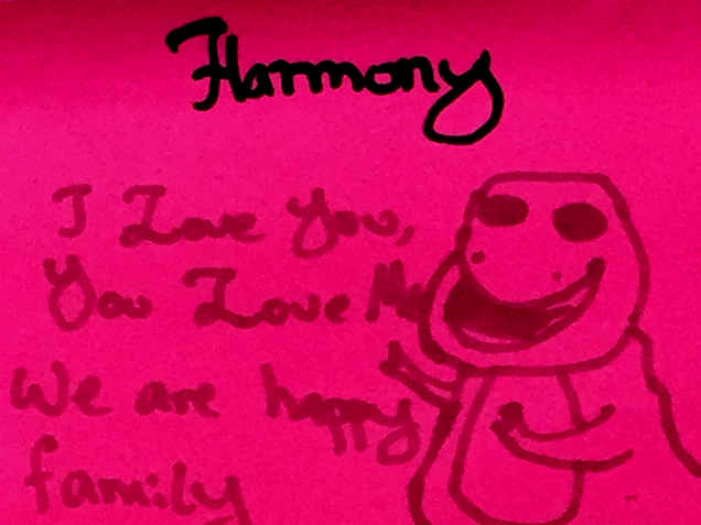 Harmony StrengthsFinder Singapore Barney Happy Family