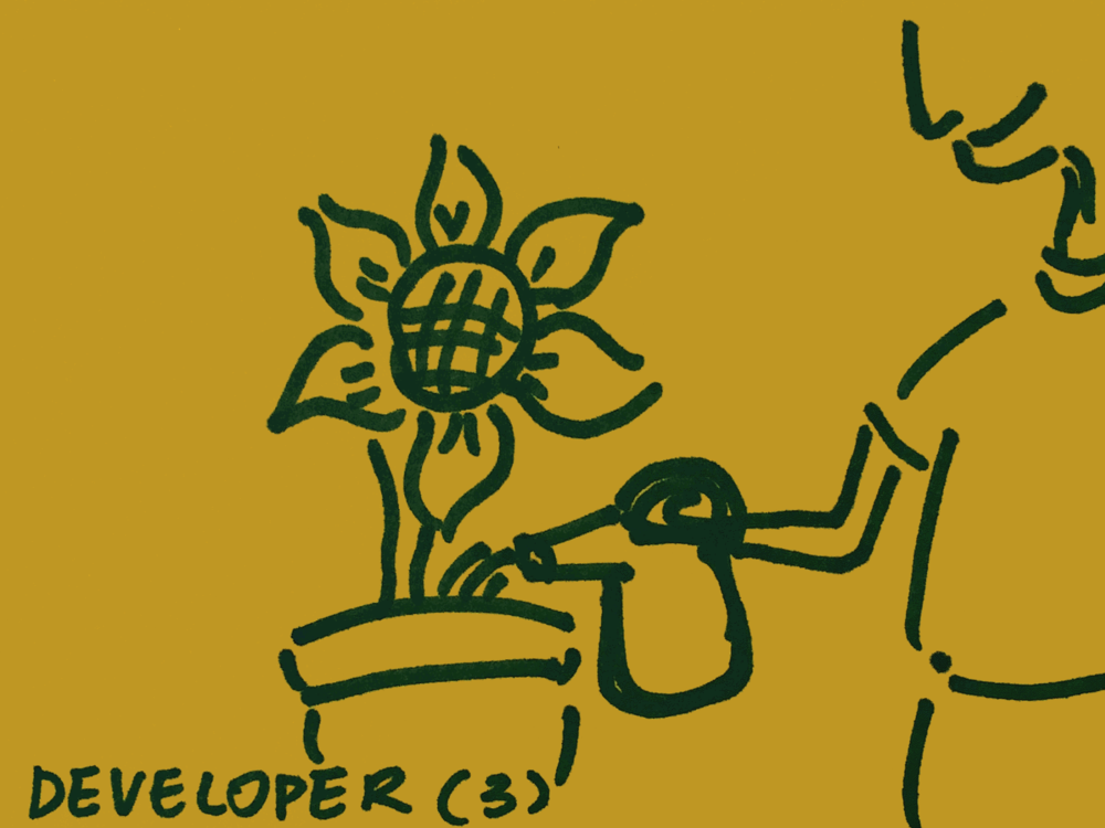 Developer Strengthsfinder Watering Flower