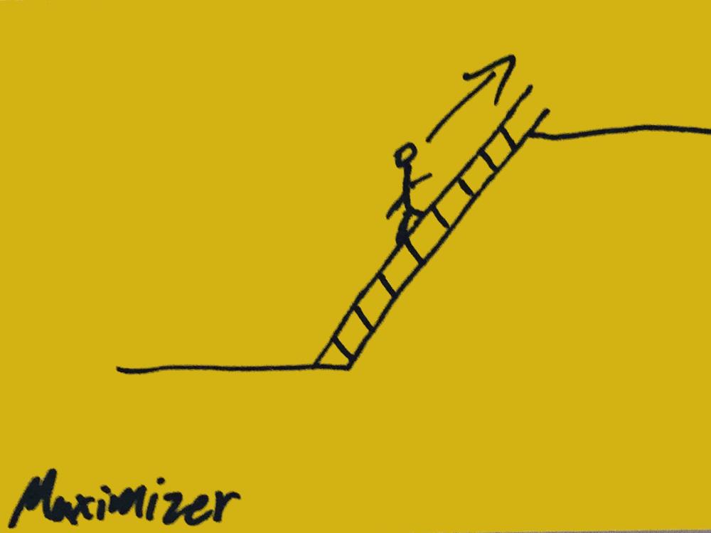 Maximizer Strengthsfinder Climbing Ladder