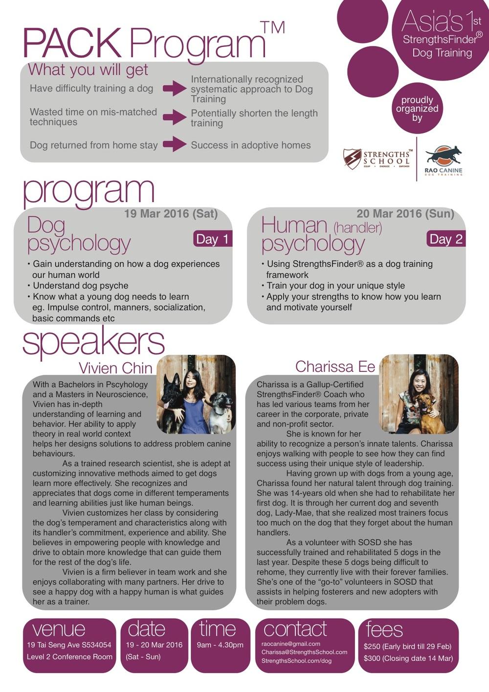 Pack Program? - StrengthsFinder Strengths School Charissa Ee Gallup