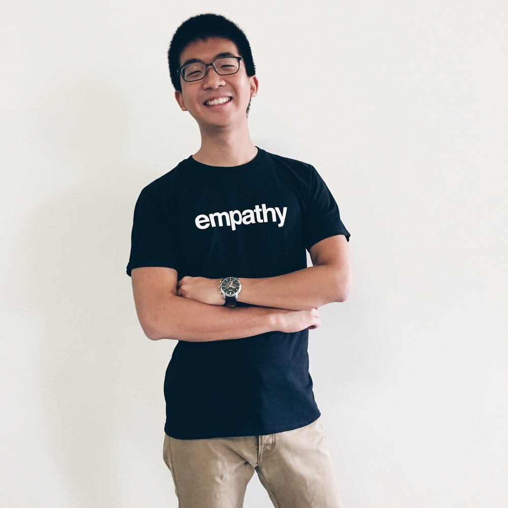 "Basic White ""Empathy"" StrengthsTee. T-Shirt designed and brought to you by Strengths School™ Singapore"