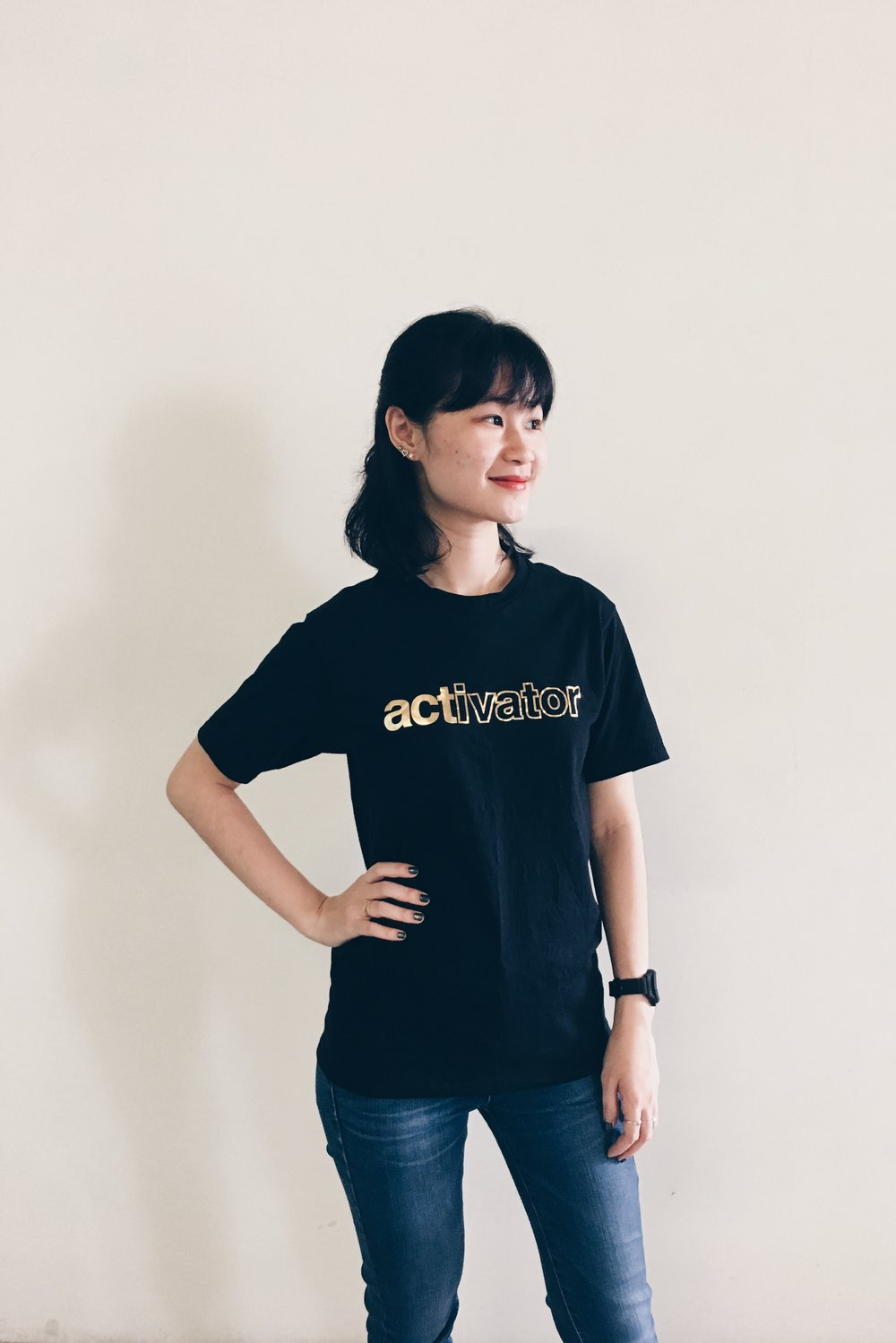 "Emphasis Gold ""Activator"" StrengthsTee. T-Shirt designed and brought to you by Strengths School™ Singapore"