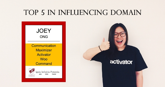StrengthsFinder All Five in Influencing Domain Joey Ong