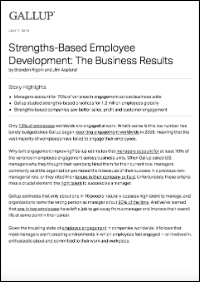 Strengths-Based Employee Development: The Business Results (Gallup, Inc.)
