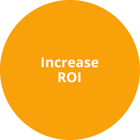 Real time insights & optimisations increase the ROI of your performance campaign.