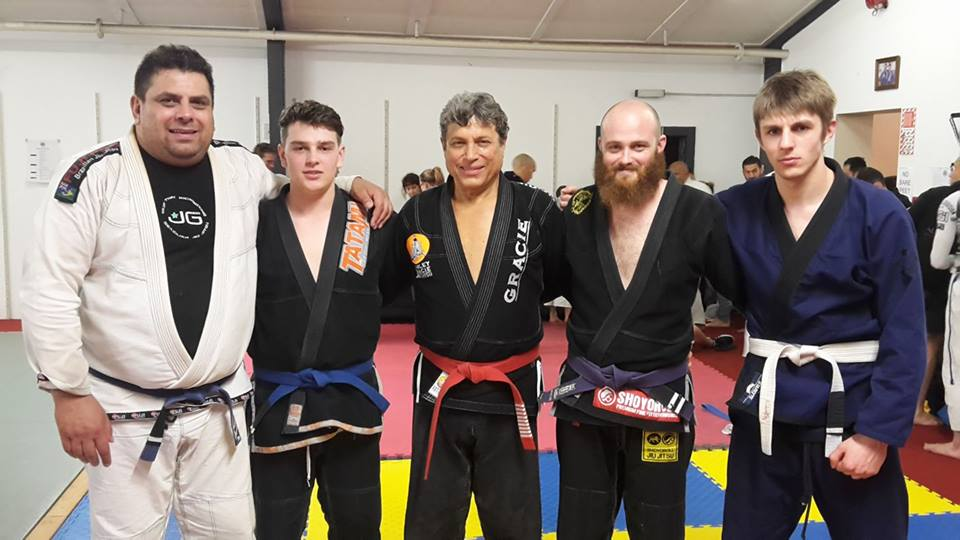 The J's Gym team with Jiu Jitsu legend, Carley Gracie.