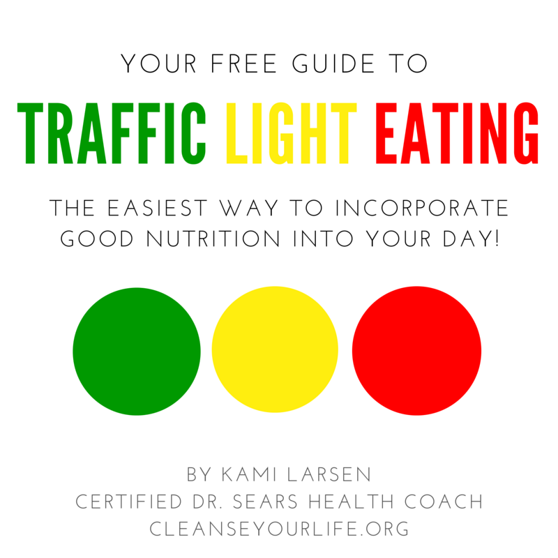 "Do you have a picky eater or a child who prefers sugary, high fat junk food? It's not uncommon for parents to struggle with getting their children to eat better. One of the best ways to help your child eat healthier is to teach them Traffic Light Eating. Just like when we drive a car, a traffic light tells us what to do!  Green means ""go"" Yellow tells us to ""slow down"" Red means ""stop"" and think  Download the free guide by clicking the photo!"