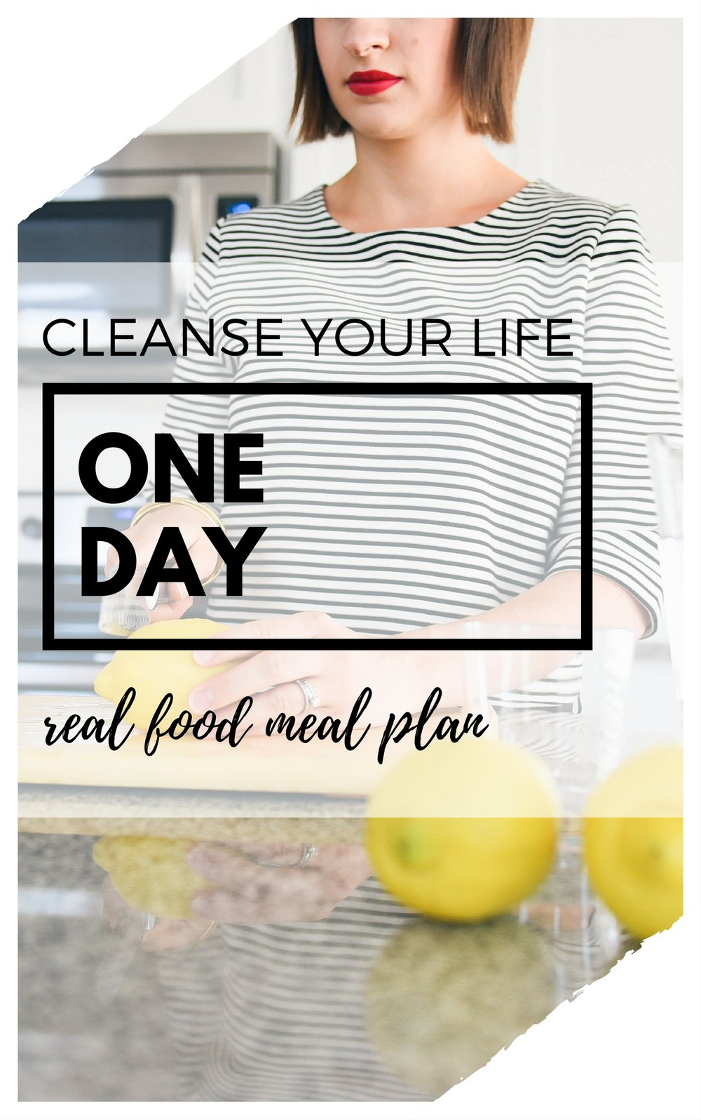 Download this FREE One Day Real Food Meal Plan - includes Breakfast, Lunch, Dinner, Snacks, AND Dessert!