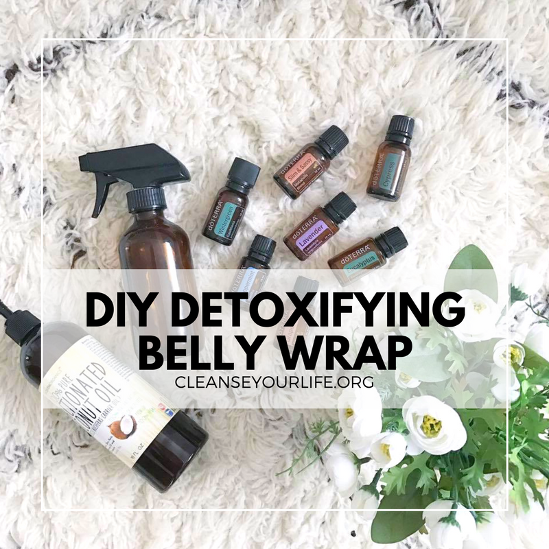 DIY Detoxifying Belly Wrap with essential oils - I lost 2 inches!
