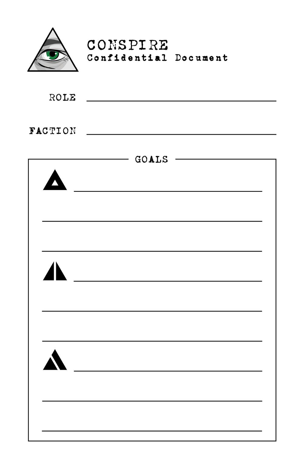 Role Sheet -
