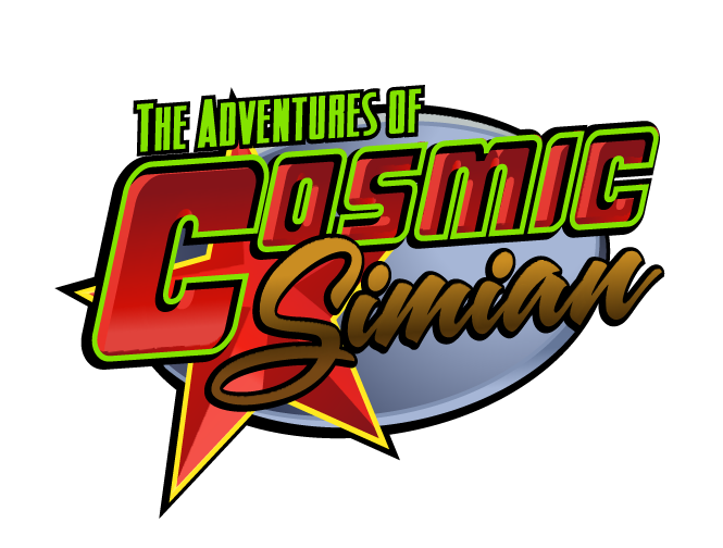 Here's the logo from my Cosmic Simian comic drawn back in 2005. I'll post some pages soon.