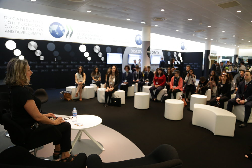 "OECD Forum in Paris, June 2018 Morning Meditation and Talk ""Is technology fueling the empathy deficit?"""