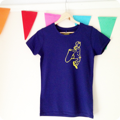 skipping girl t-shirt