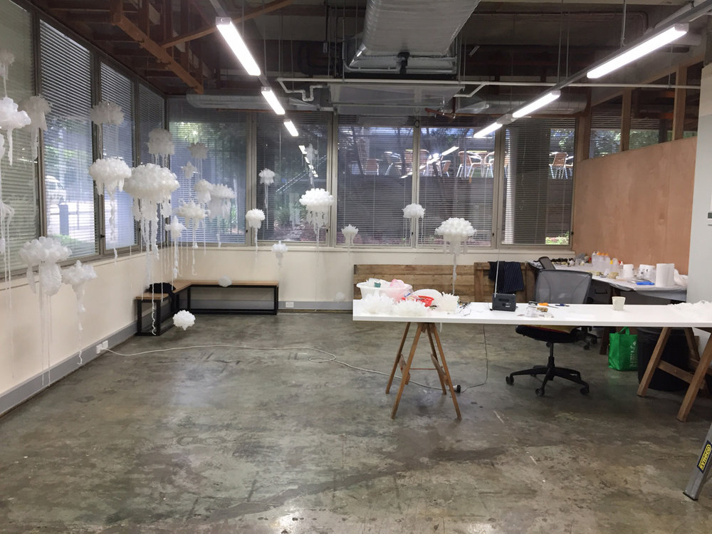 Penelope Davis, work in progress at Carlton Connect Lab-14, City of Melbourne Creative Spaces, Studio Residency
