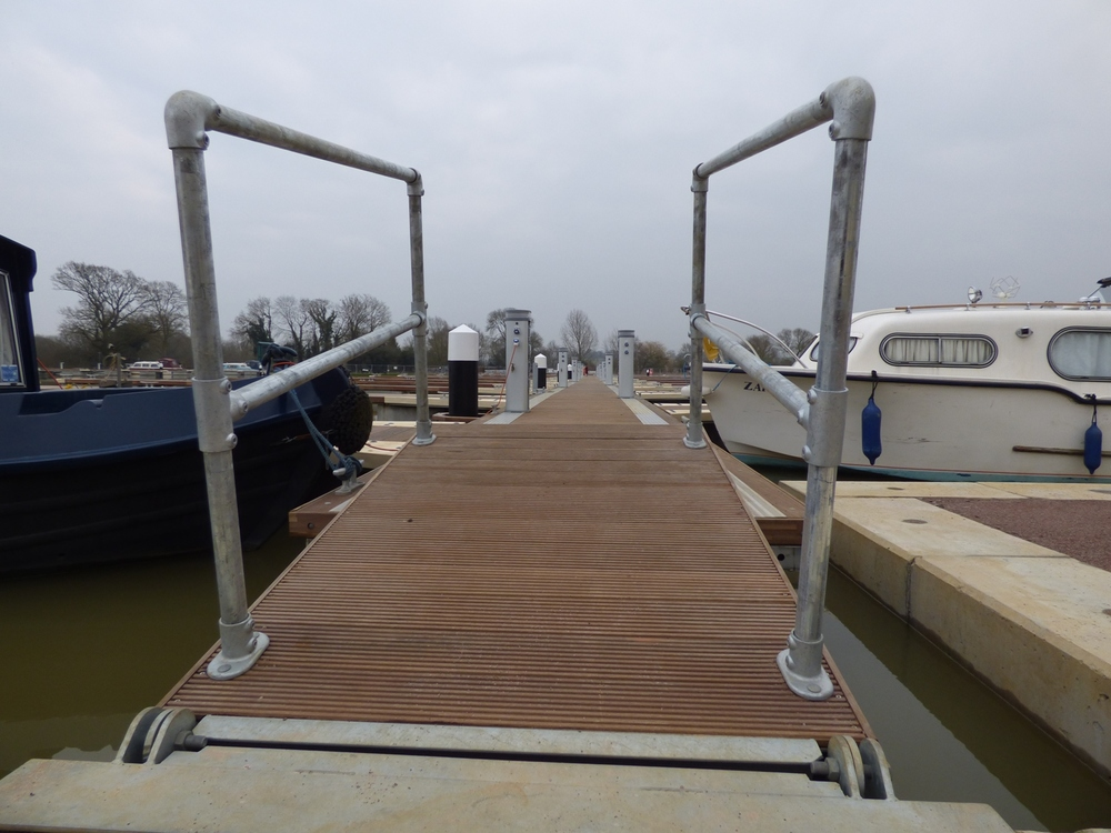 Our floating pontoons doing what they do best