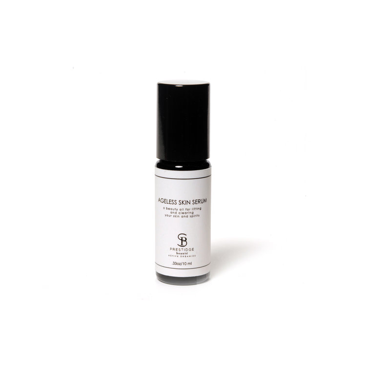 AGELESS SKIN SERUM (10ml) - AN ACTIVE ORGANIC SERUM THAT HYDRATES, FIRMS, AND DIMINISHES FINE LINES, EVENS SKIN TONE +TREATS BREAKOUTS.