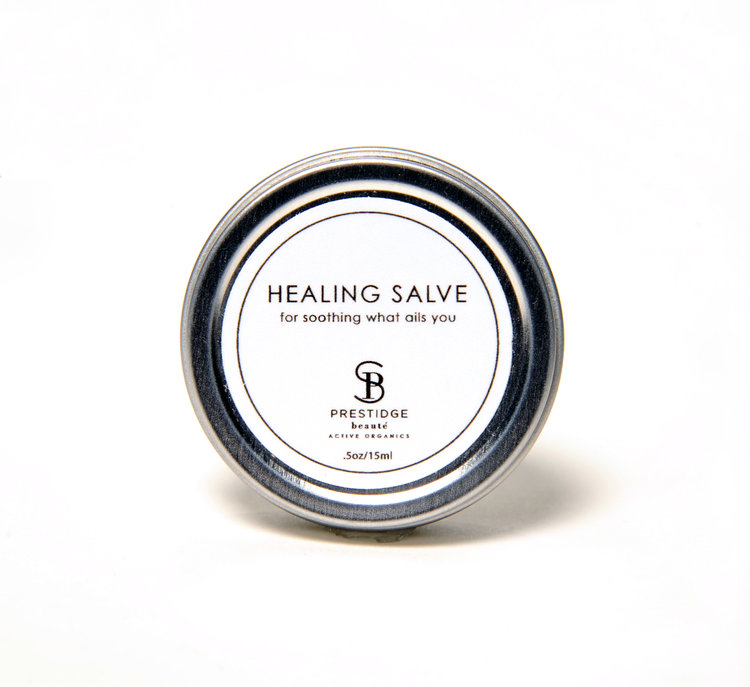 HEALING SALVE (15ml) - THIS ORGANIC SALVE CAN BE USED FOR ACNE, CUTS, BUG BITES, YOU NAME IT.THE ESSENTIAL OILS IN THIS PRODUCT PROMOTE CELL REGENERATION, AND INHIBIT MICROBIAL, FUNGAL, AND BACTERIAL GROWTH.