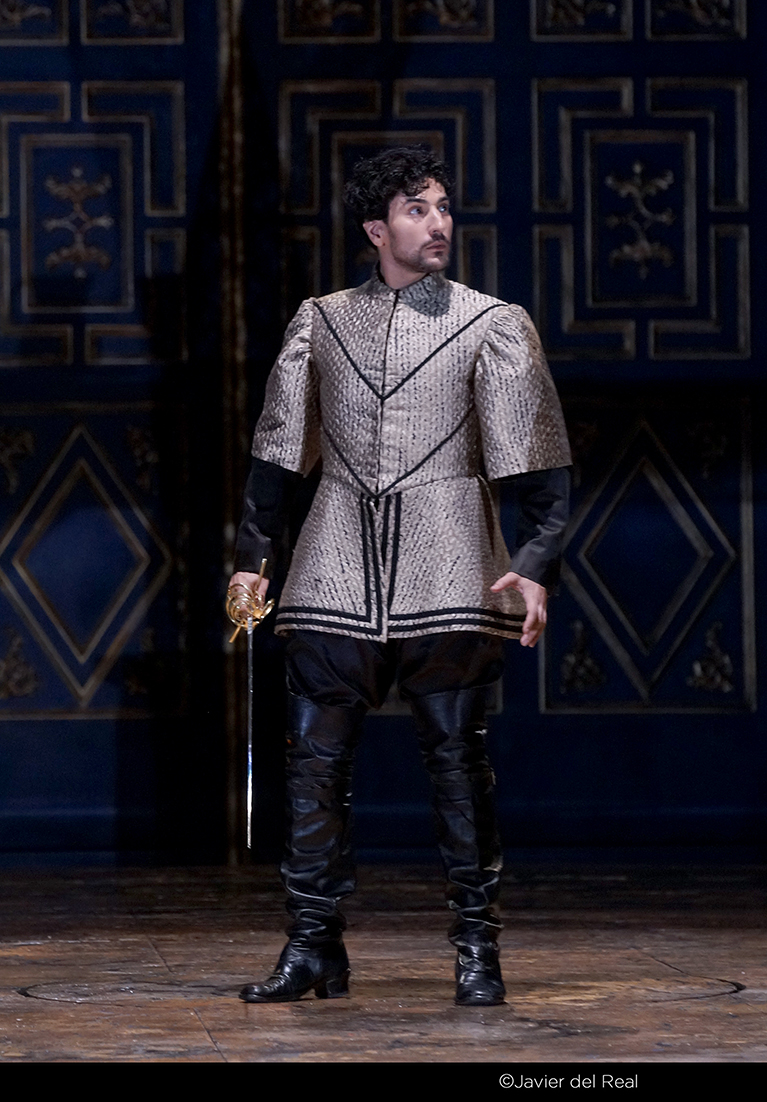 Leonardo Capalbo as Robert, Earl of Essex in  Gloriana