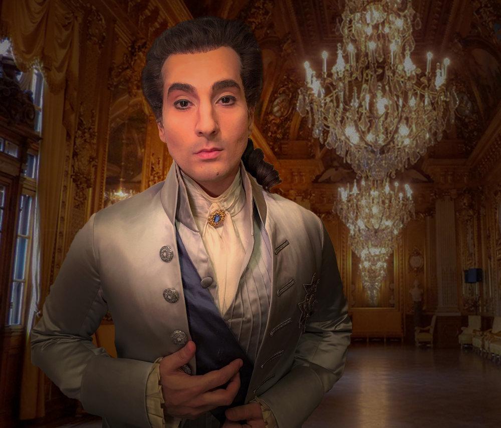 Leonardo Capalbo as Gustavo III in  Un ballo in maschera