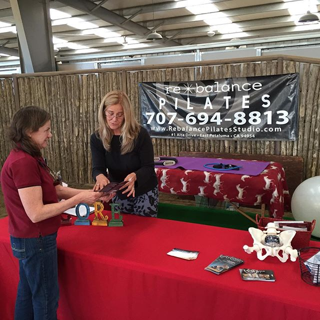 At the Circle Oak Health fair in Petaluma