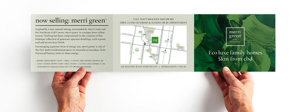 Merri Green branding by Chamberlain Architects